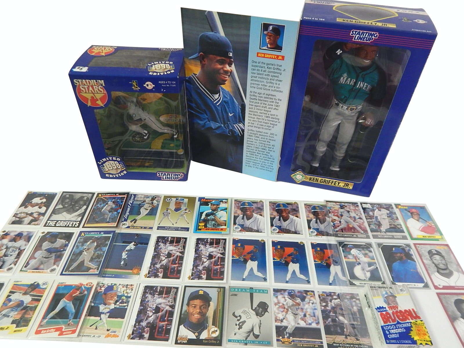 (HOF) Ken Griffey Jr. Baseball Cards and Starting Lineup Action Figures