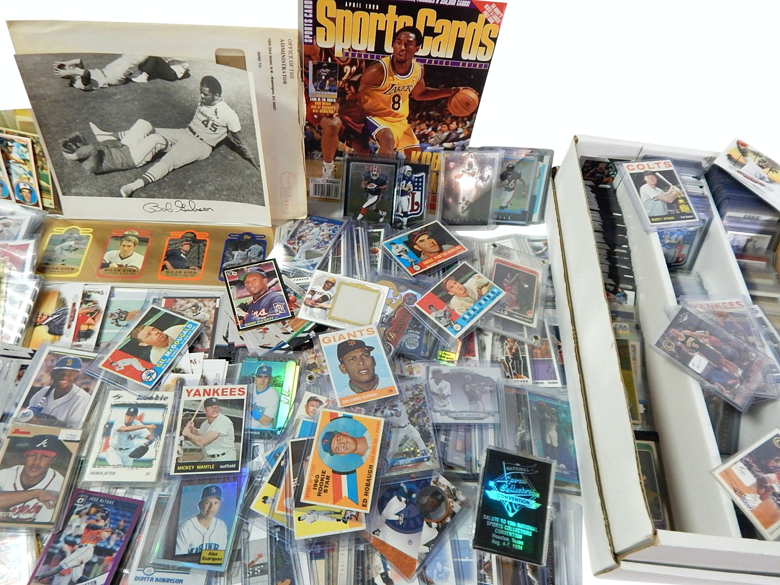 Huge Mostly Top-Loaded Sports Card Lot with 1964 Topps Mickey Mantle #50