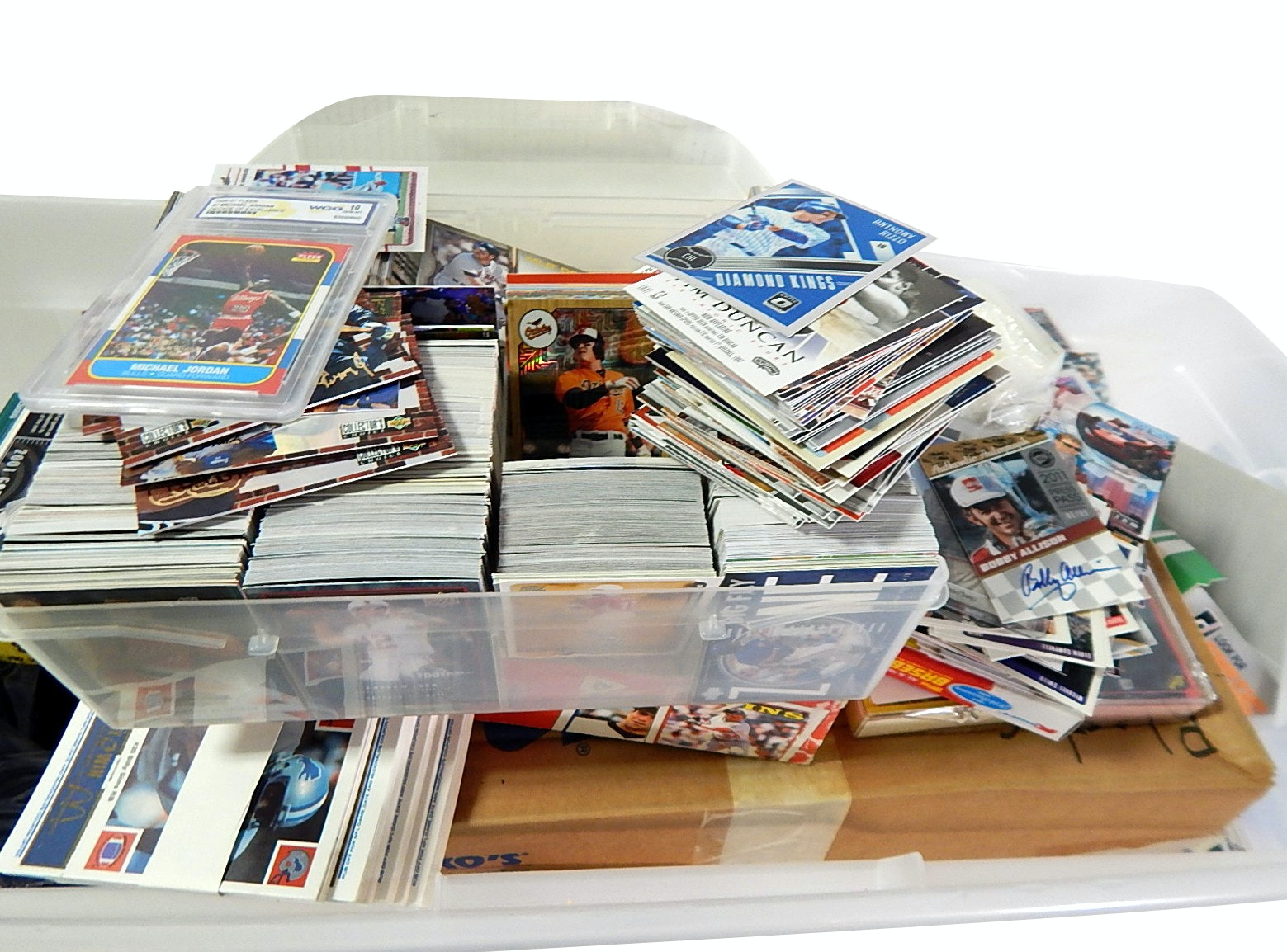Huge Tub of Sports Cards with Hundreds of Rookie and Star Cards