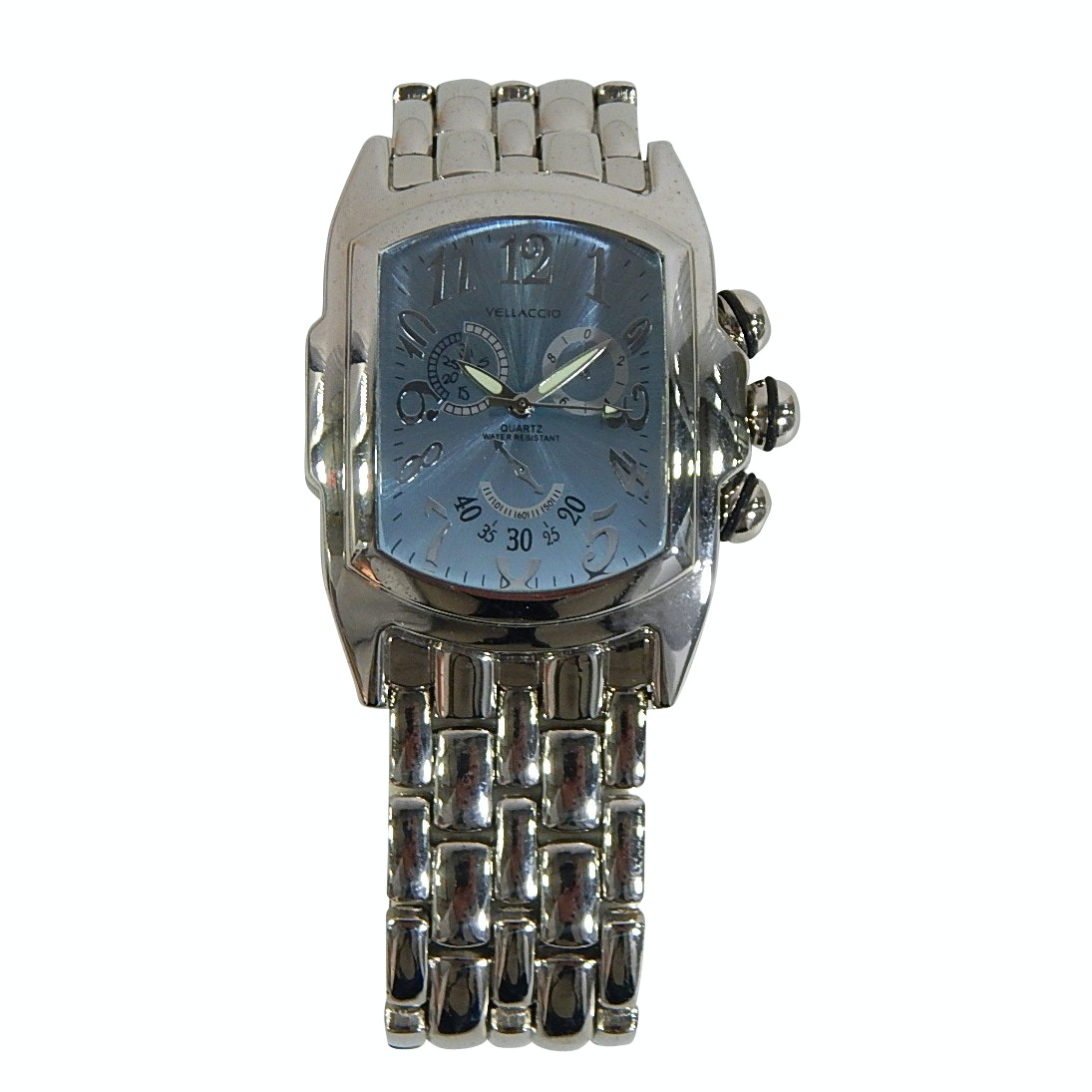 Vellaccio Quartz Stainless Steel Blue Face Wristwatch