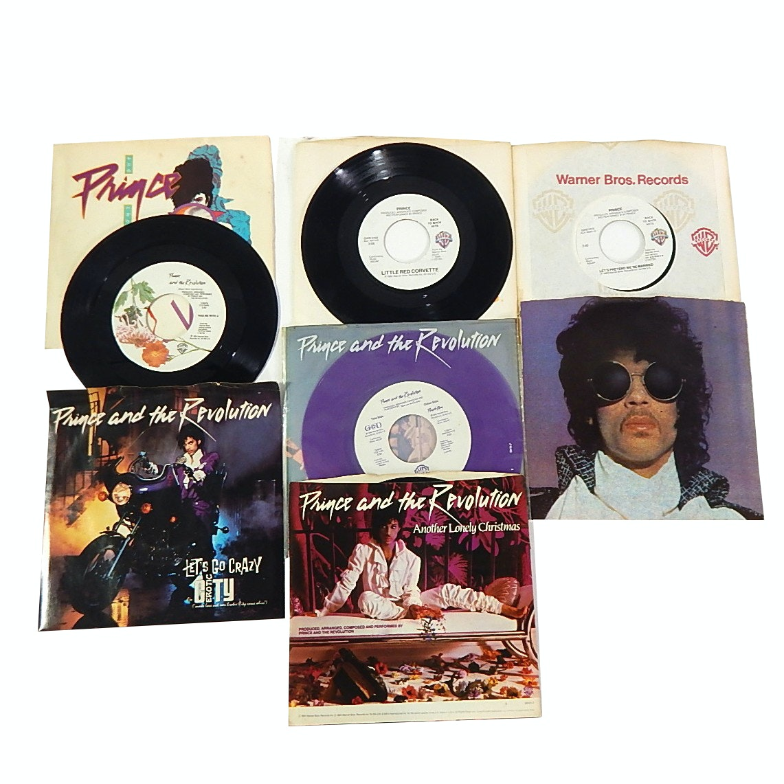 Prince 45 RPM Record Lot with Purple Rain and More - 7 Count Lot