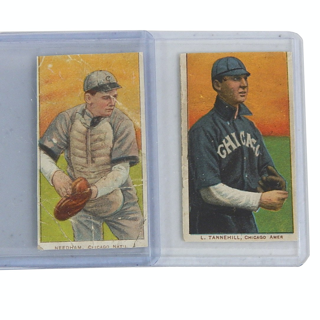 1909 T206 Tobacco Cards with Needham, Tannehill- Piedmont Backs