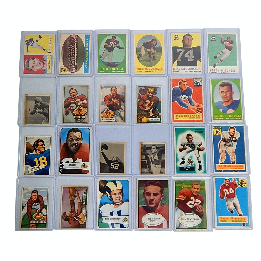 1950s Bowman and Topps Top Loaded Football Cards- 24 Count