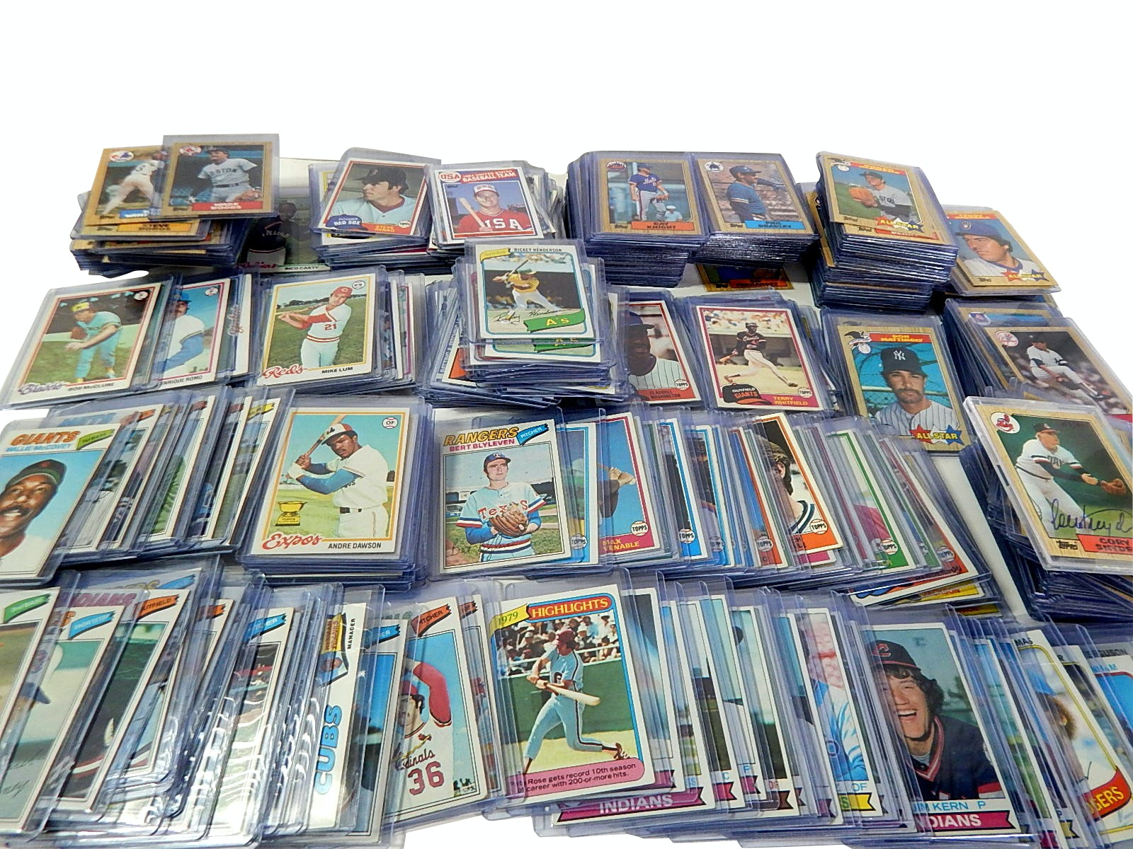 1977 to 1987 Topps Mostly Top-Loaded Cards Baseball Cards - Around 300 Ct.