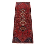 Hand-Knotted Persian Abadeh Wool Carpet Runner
