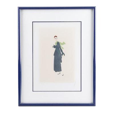 """Erté Serigraph """"The Blue Dress"""""""