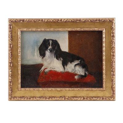 19th Century Pet Portrait Oil Painting