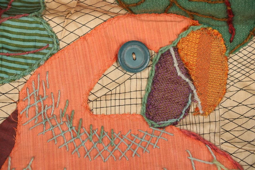 "Martha Mood Appliqué Stitchery ""Parrots"" With Illustrated"