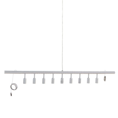 """Design Within Reach """"Cellula"""" Brushed Aluminum Linear Chandelier"""