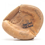 """Johnny Bench Signed """"Little General"""" Inscribed Rawlings Glove  Visual COA"""