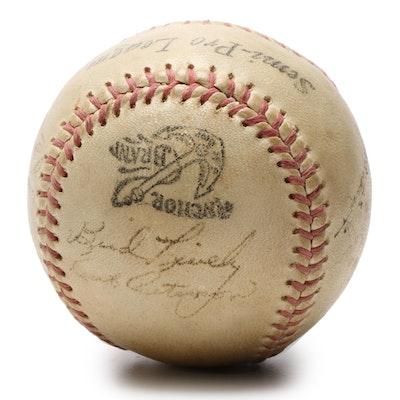 1949 Cincinnati Reds Signed Baseball Plus Frank Branca, JSA Full COA