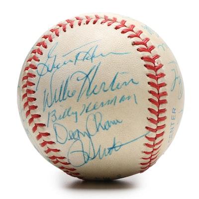 Baseball Hall of Fame and Major League Baseball Stars Signed Baseball, JSA COA