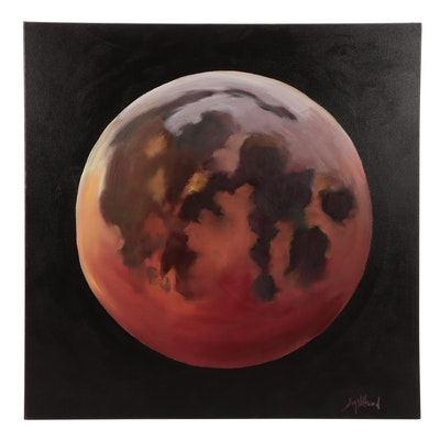"Jay Wilford Oil Painting ""Blood Moon"""
