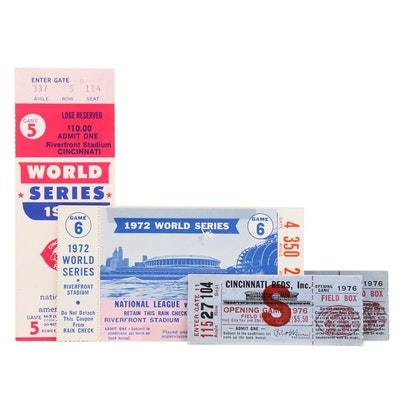 Notable Cincinnati Reds Game Ticket Stubs