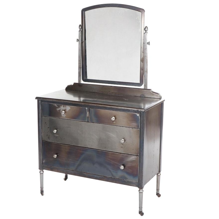 "Simmons Furniture Company ""Sheraton"" Brushed Steel Vanity, Circa 1930"