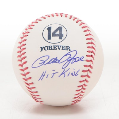 "Pete Rose Signed ""14 Forever"" Rawlings Major League Baseball, COA"