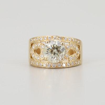 18K Yellow Gold 2.47 CTW Diamond Ring