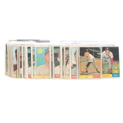 1961 Topps Baseball Cards with Hall of Fame and Star Players