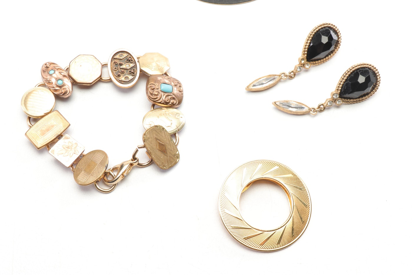 Gold-Tone Assorted Jewelry Including Lieba Pin