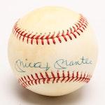 (HOF) Mickey Mantle Signed Rawlings American League Baseball, JSA COA