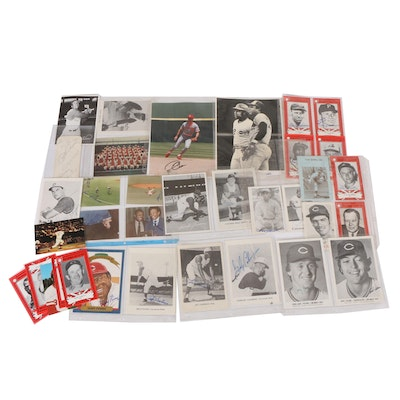 Cincinnati Reds and Ohio Baseball Hall of Fame Players Signed Ephemera
