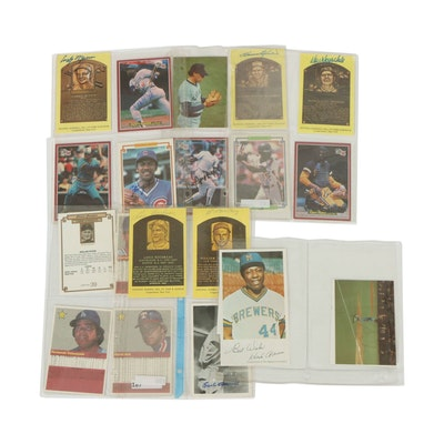 Autographed Hall of Fame Postcards and Large Baseball Cards