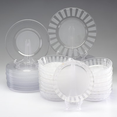 "Orrefors ""Clara"" Crystal Plates and Bowls, Discontinued"