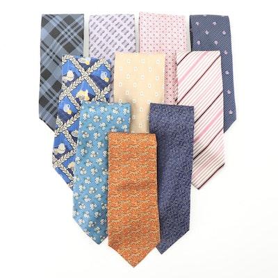 Oscar de la Renta, Façonnable, Ermenegildo Zegna, Ungaro and Other Silk Neckties