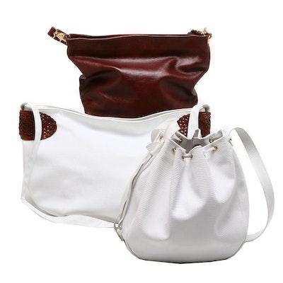 28f2b978148 Paula Del Lungo, Bellini and Piero Guidi Leather Shoulder Bags