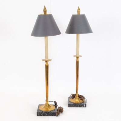 Brass and Marble Table Lamps