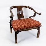 Chinese Inspired Wooden Armchair