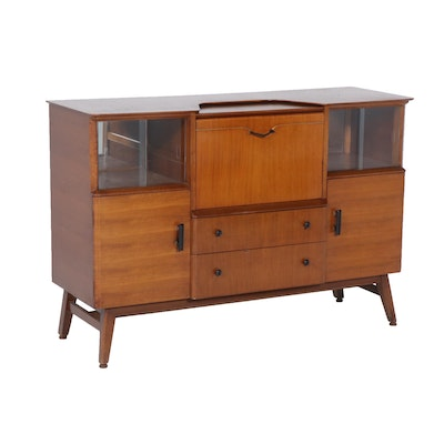 Beautility Bleached Mahogany and Birch Cocktail Cabinet, Mid-Century