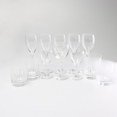 Baccarat Crystal Cocktail Glasses and Other Stemware