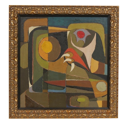 Paul Arthur Dufour Abstract Oil Painting