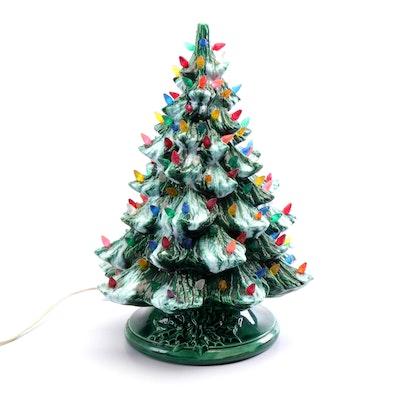 Ceramic Christmas Tree Table Lamp