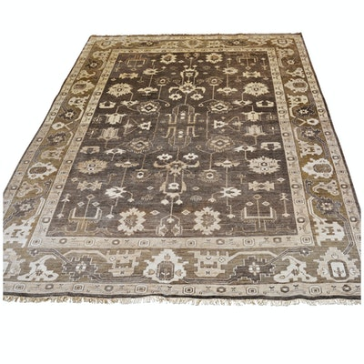 Hand-Knotted Nourison Indo-Persian Viscose Rug from The Rug Gallery