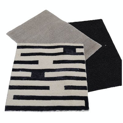 Hand-Knotted Nepalese TIbetan Wool and Silk Accent Rugs from The Rug Gallery