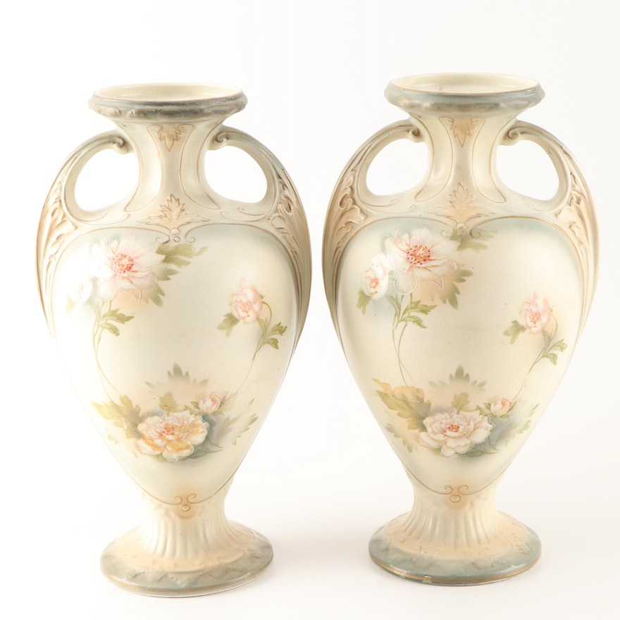 Ford & Sons Crownford Ltd. Earthenware Urns, Early 20th Century