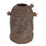 "Benin Bronze ""Oba"" Memorial Head"