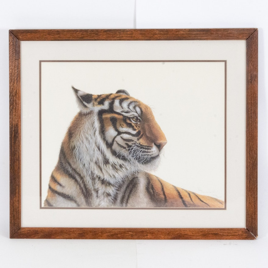 "Offset Lithograph After I.H. Farnsworth ""Tiger"""