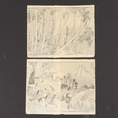 Woodblocks after Katsushika Hokusai, 1835