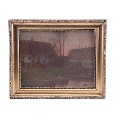 Stanisław Kamocki Landscape Oil Painting
