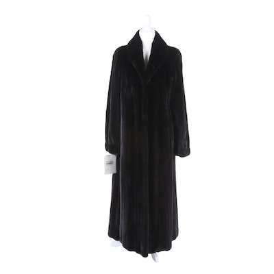 Women's Natural Ranch Mink Fur Full-Length Coat