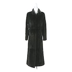 Women's Dyed Sheared Mink Fur Full-Length Coat