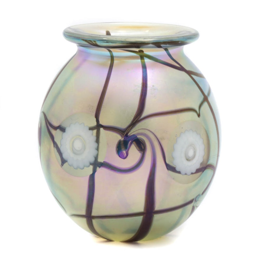 Robert Eickholt Blown Glass Vase