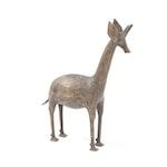 West African Brass Giraffe Sculpture