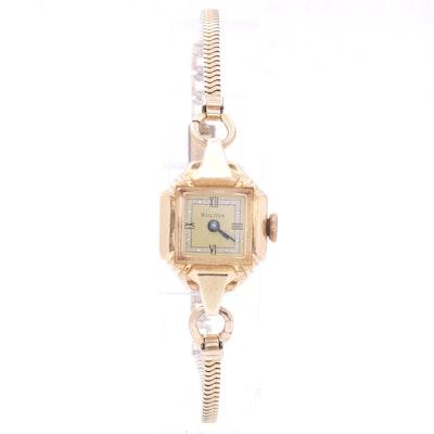 Bulova 14K Yellow Gold and Gold Filled Watch, circa 1940s