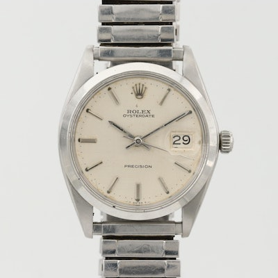 Vintage Rolex Oysterdate Stainless Steel Wristwatch With Date, 1969