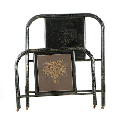 Ethan Allen Medallion Collection Queen Sleigh Bed Ebth