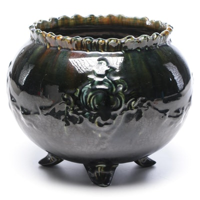 Blended Glaze Majolica Earthenware Jardiniere, Early 20th Century